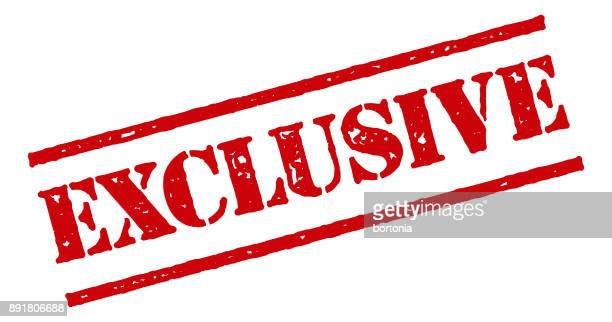 Exclusive Red Rubber Stamp Icon on Transparent Background