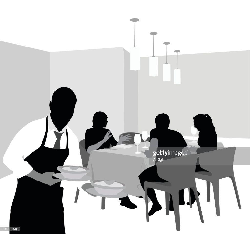 Exclusive Restaurant Dining : stock illustration