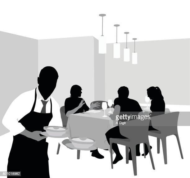 exclusive restaurant dining - sneering stock illustrations, clip art, cartoons, & icons