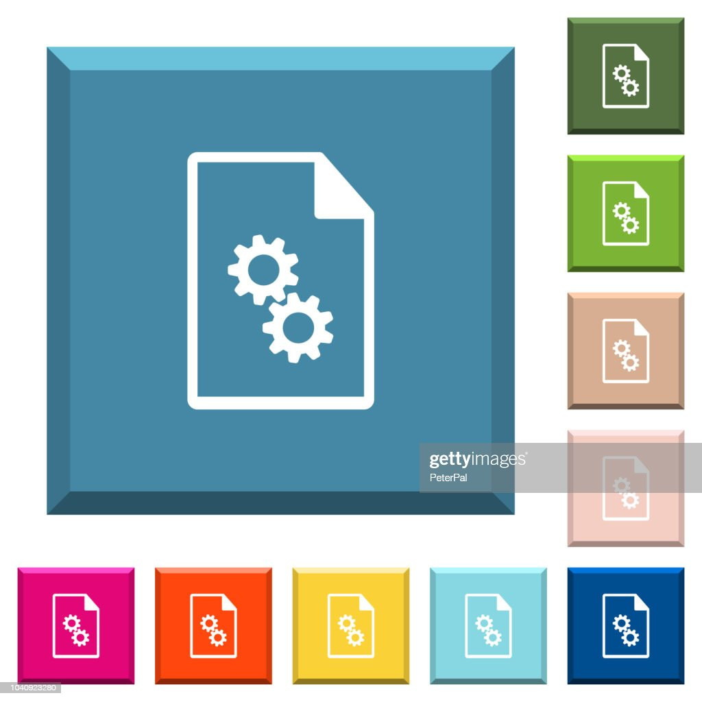 Executable file white icons on edged square buttons