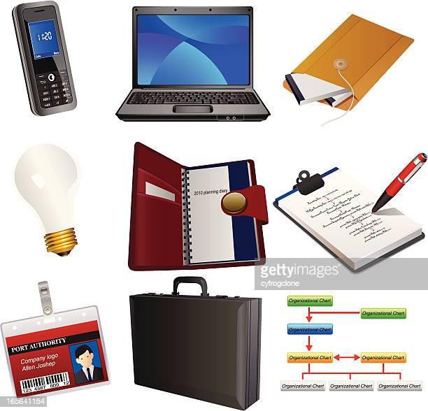 executive set - security pass stock illustrations, clip art, cartoons, & icons