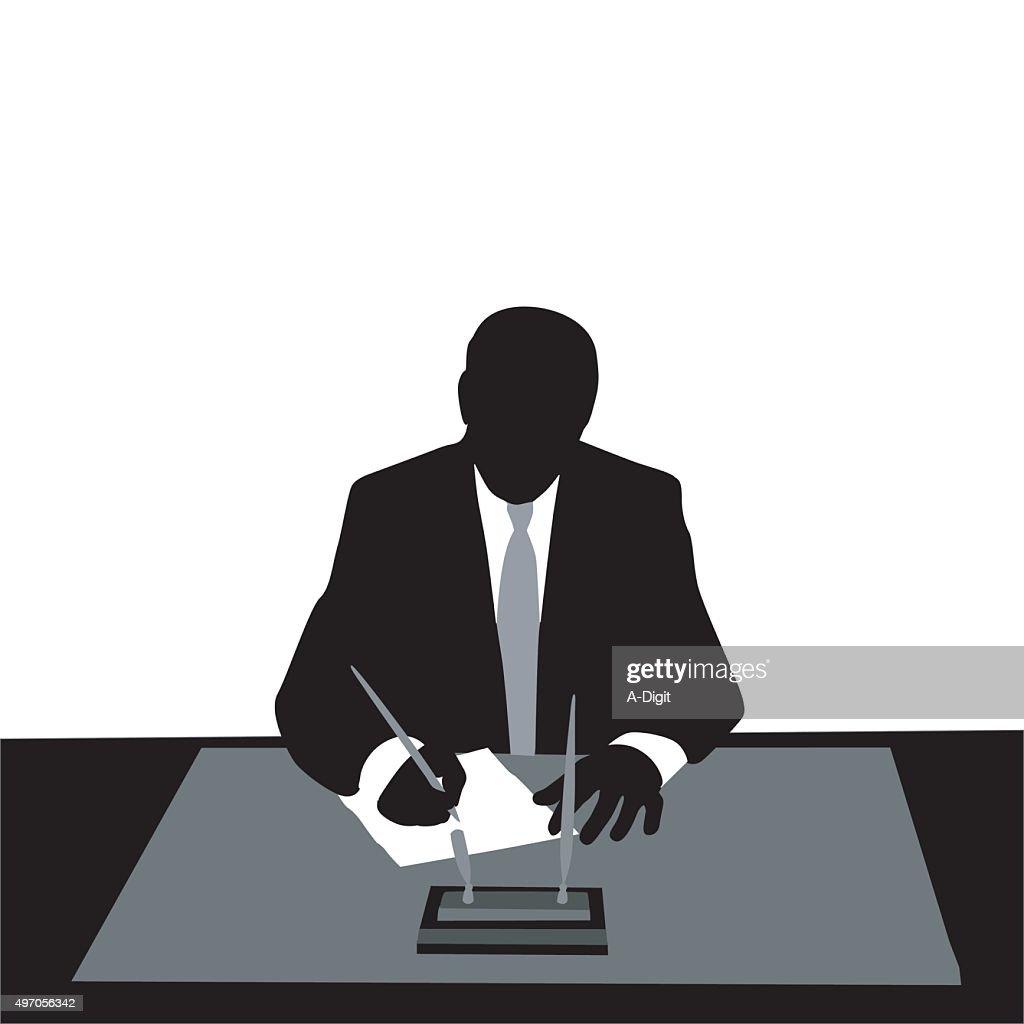 Executive Signature : stock illustration