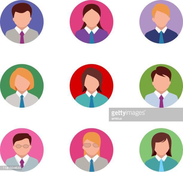 executives - headshot stock illustrations