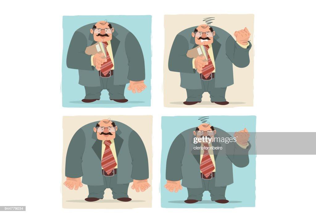 O Executivo (as faces) : Stock Illustration