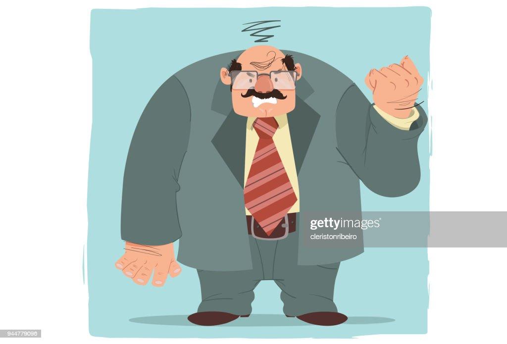 O executivo (estresse) : Stock Illustration