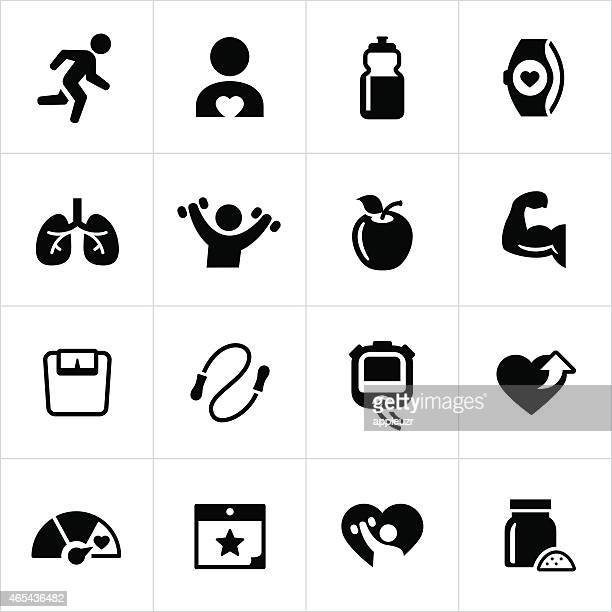 exercise and fitness icons - anaerobic stock illustrations, clip art, cartoons, & icons