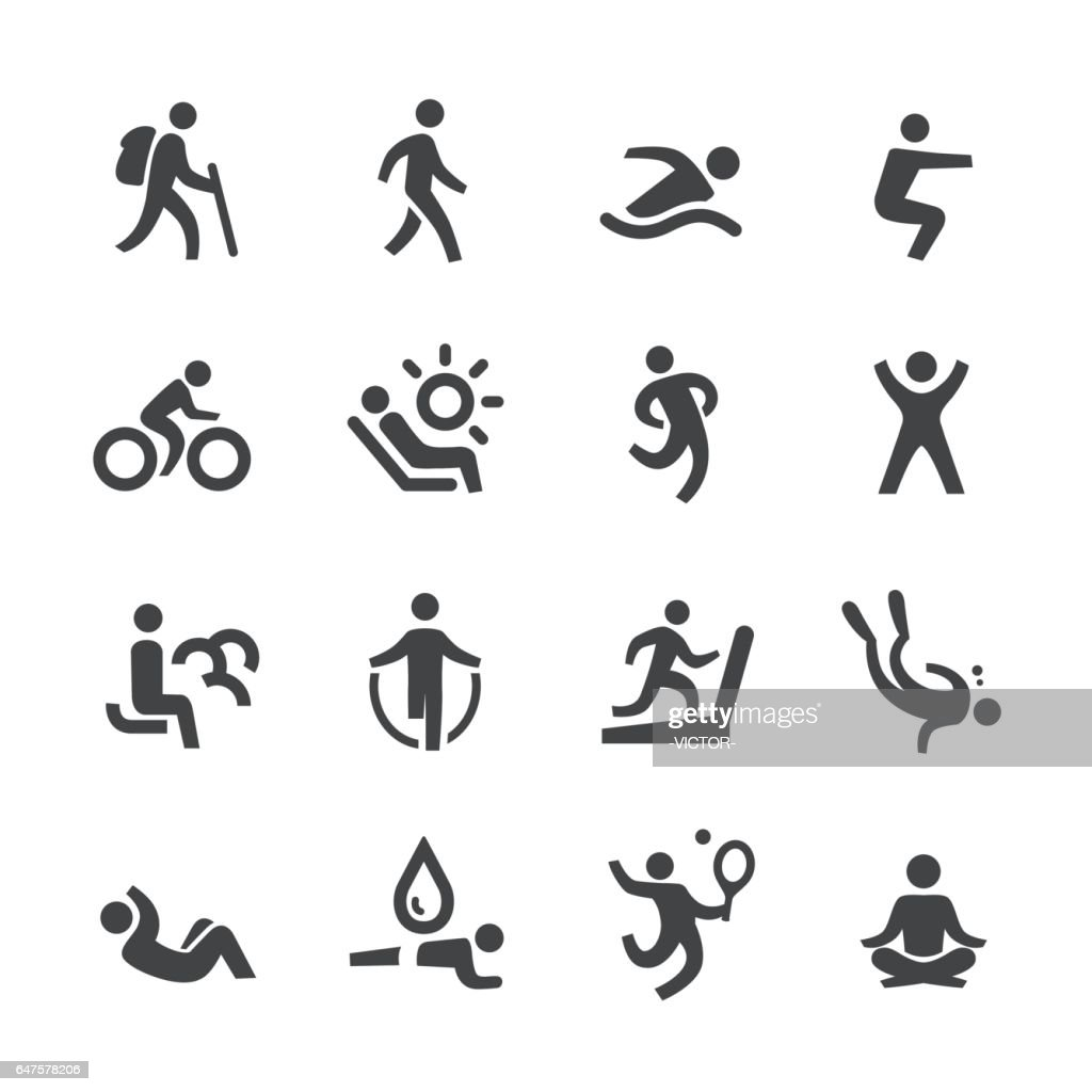 Exercise and Relaxation Icons - Acme Series : Stock Illustration