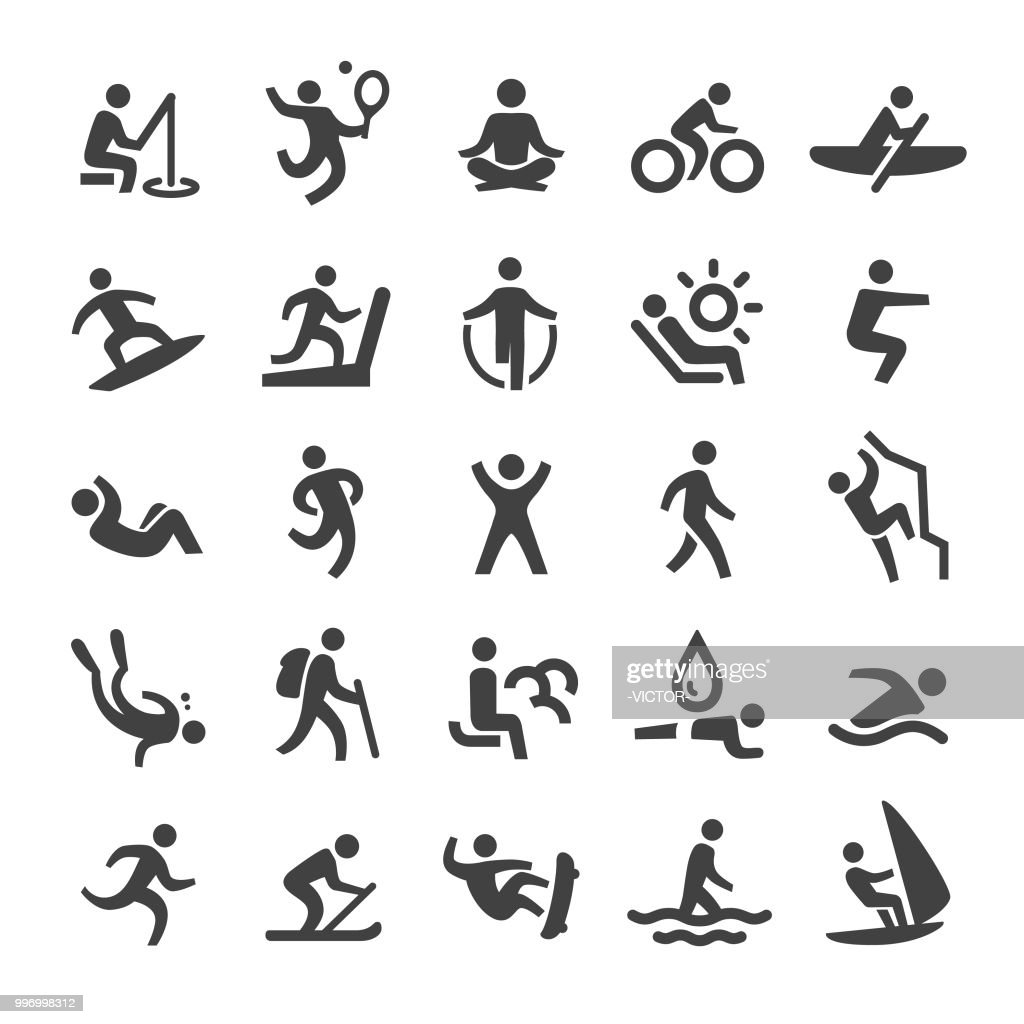 Exercise and Relaxation Icons - Smart Series : Stock Illustration