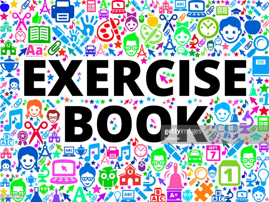 Exercise Book School And Education Vector Icon Background