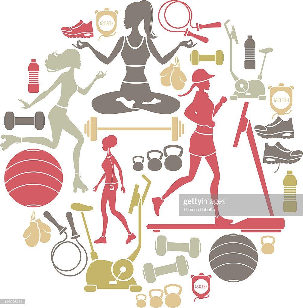 Exercise Icon Set