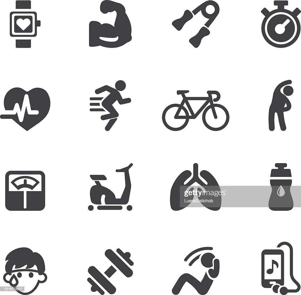 Exercise Silhouette icons | EPS10