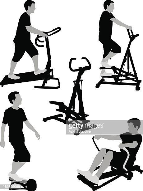 exercise - step aerobics stock illustrations, clip art, cartoons, & icons