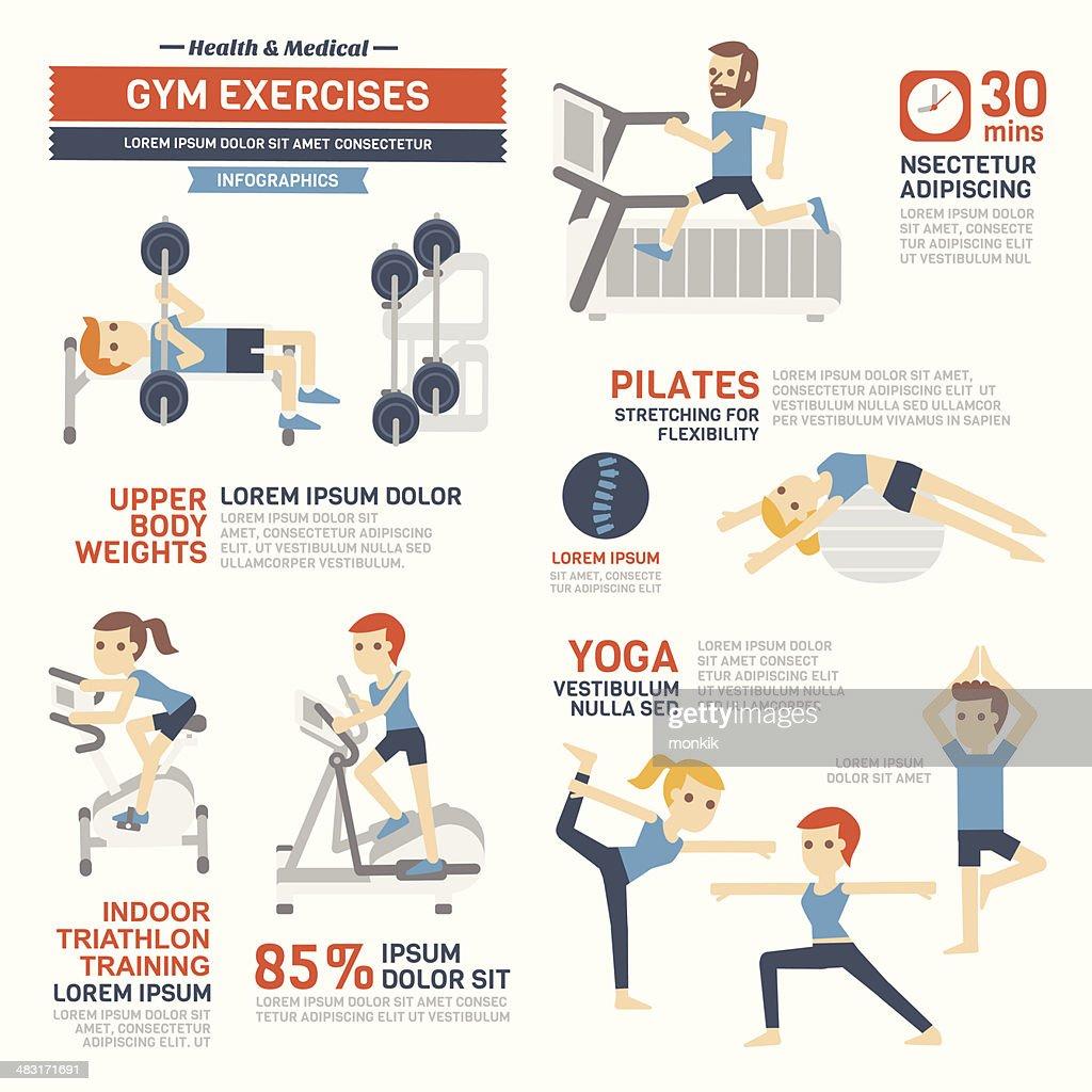 GYM Exercises Infographics