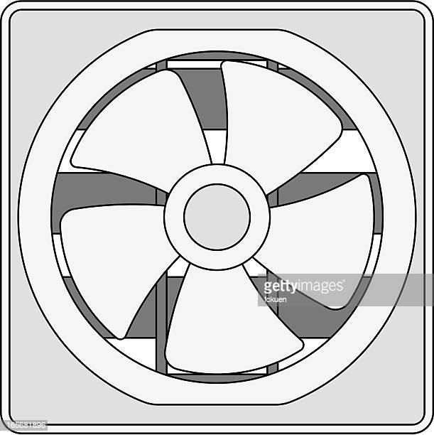exhaust fan illustration - exhaust fan stock illustrations, clip art, cartoons, & icons