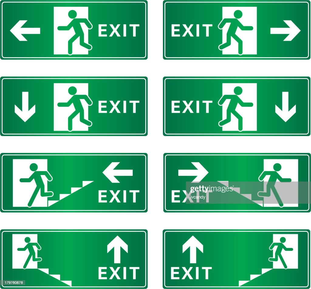 Exit sign vector art getty images exit sign vector art buycottarizona Images