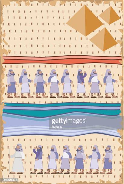 exodus, passover illustration - passover stock illustrations