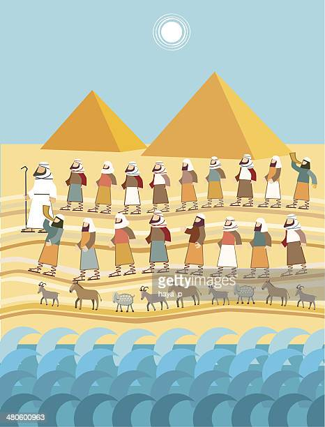 exodus, passover - passover stock illustrations