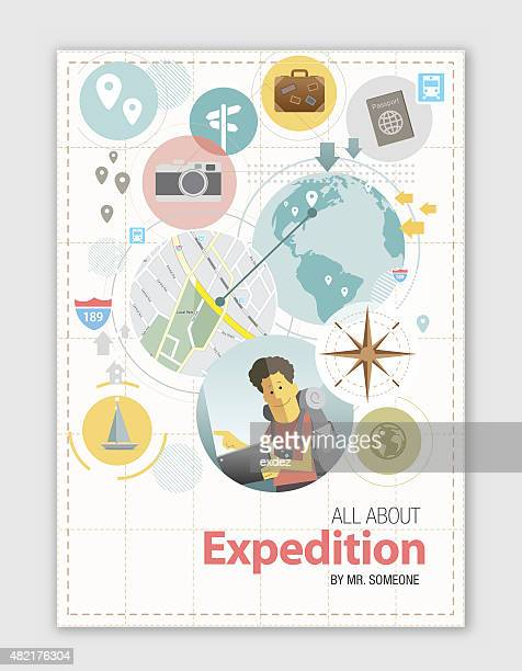 expedition design - exploration stock illustrations