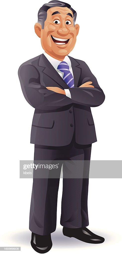 Erfahrener Geschäftsmann : Stock-Illustration