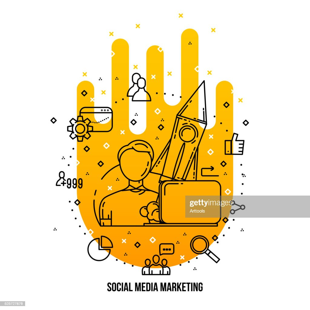 Smm Expert Specialist Freelance Social Media Marketing Concept Ions Set High Res Vector Graphic Getty Images