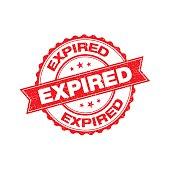 Expired grunge retro isolated stamp