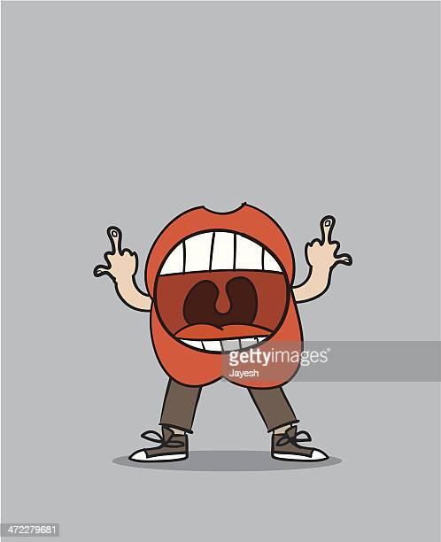 illustrations, cliparts, dessins animés et icônes de explicite les lèvres - doigt dhonneur