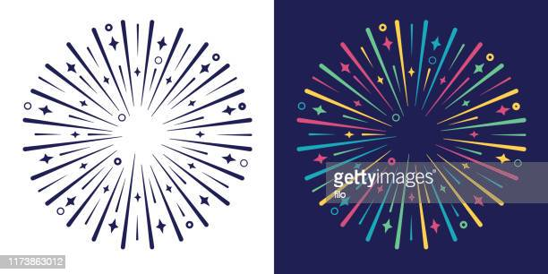 explode burst circle design element - political party stock illustrations