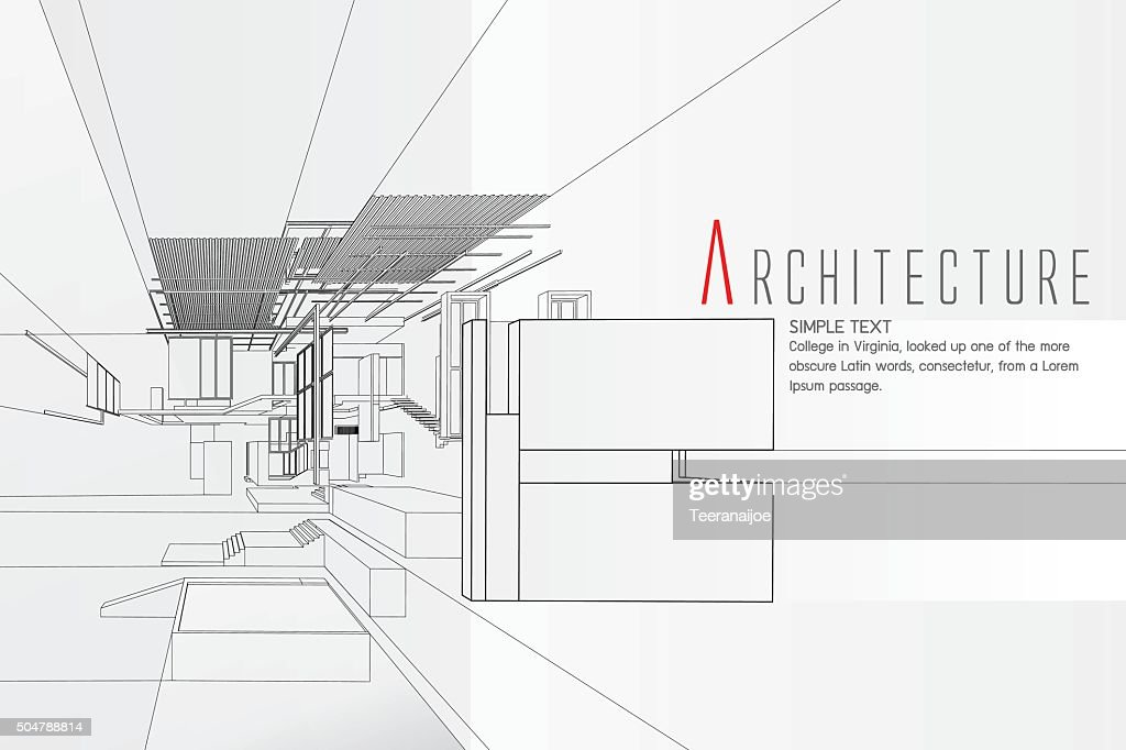 Exploded view of a building