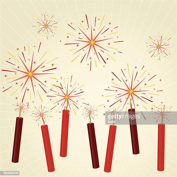 Exploding firecrackers