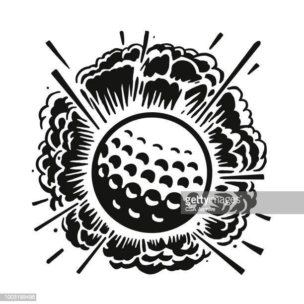 ilustraciones, imágenes clip art, dibujos animados e iconos de stock de que pelota de golf - golf tournament