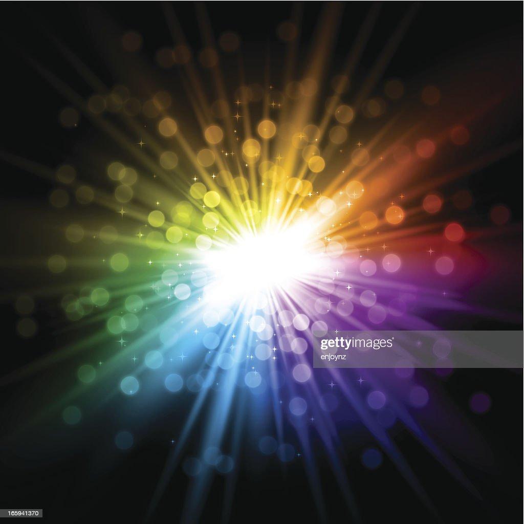 Exploding rainbow background