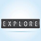 Explore departure board