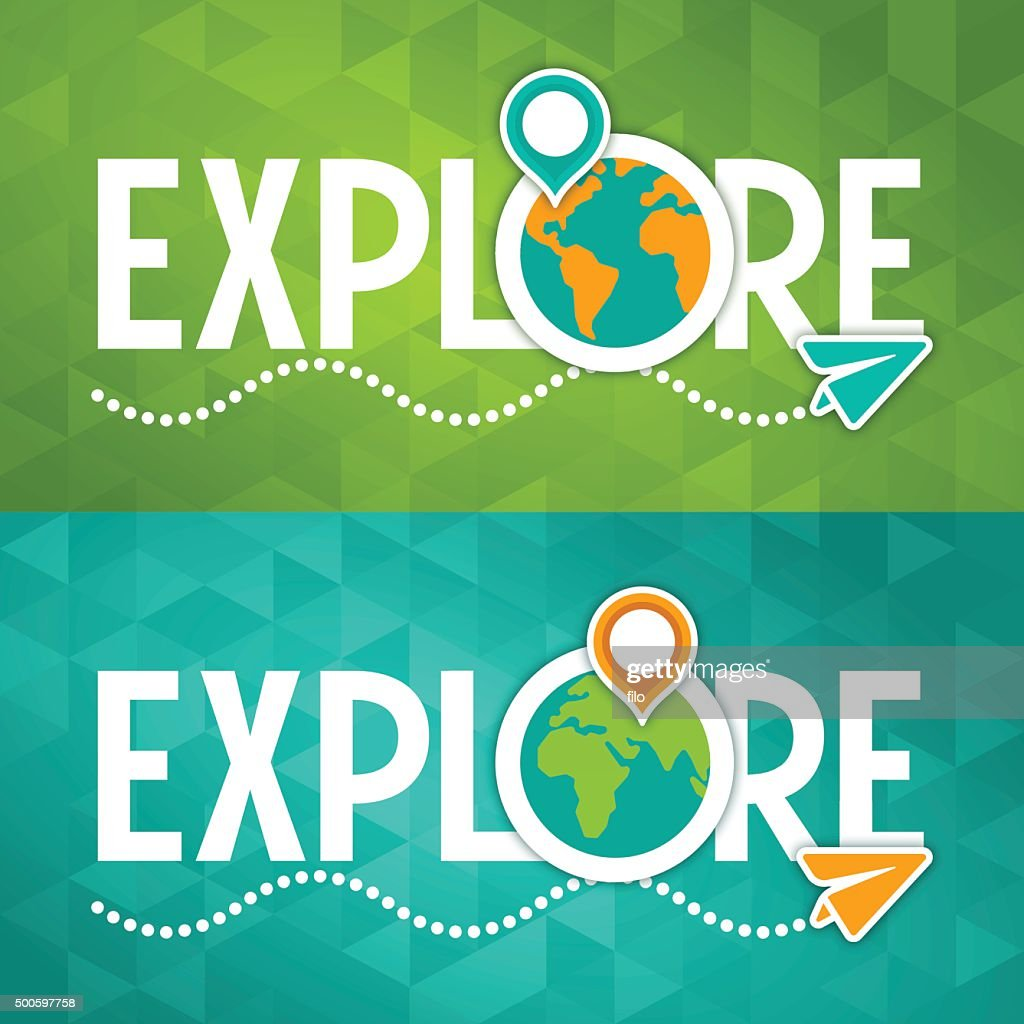 Explore Travel Concept : Stock Illustration