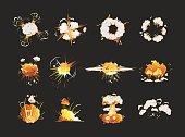 Explosion icons set.