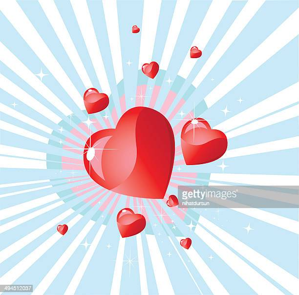 Explosion of hearts