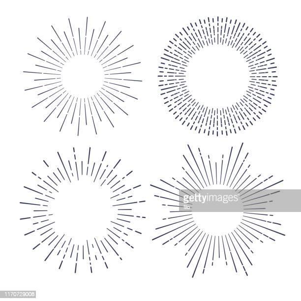 explosionslinienzeichnungs-designelemente - lichtstrahl stock-grafiken, -clipart, -cartoons und -symbole