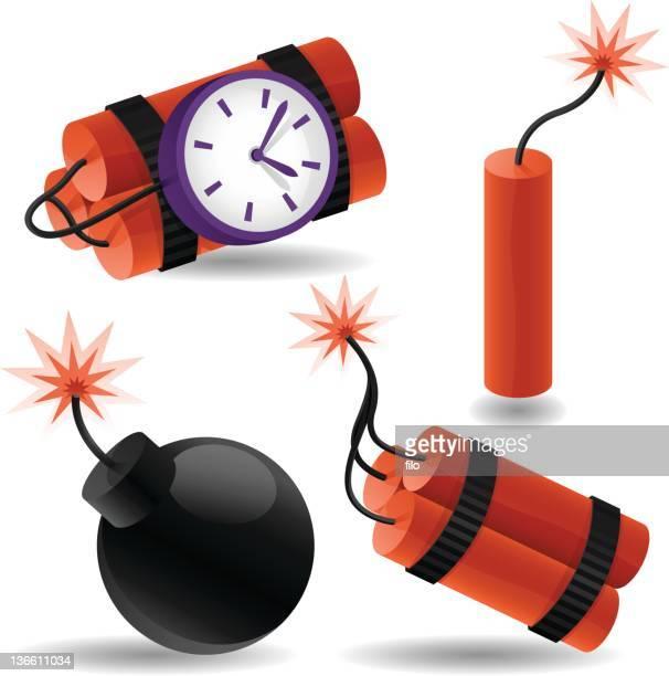 ilustraciones, imágenes clip art, dibujos animados e iconos de stock de elementos delicados - bomba