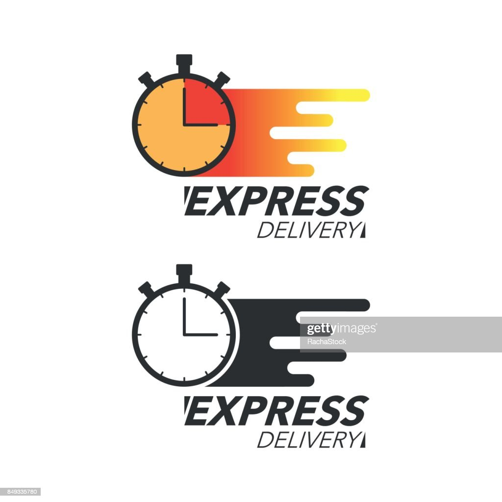 Express delivery icon concept. Stop watch icon for service, order, fast and free shipping. Modern design vector illustration.