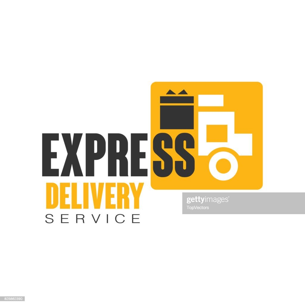 Express Delivery Service Design Template Vector Illustration On A ...
