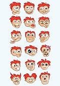 Expression face cartoon