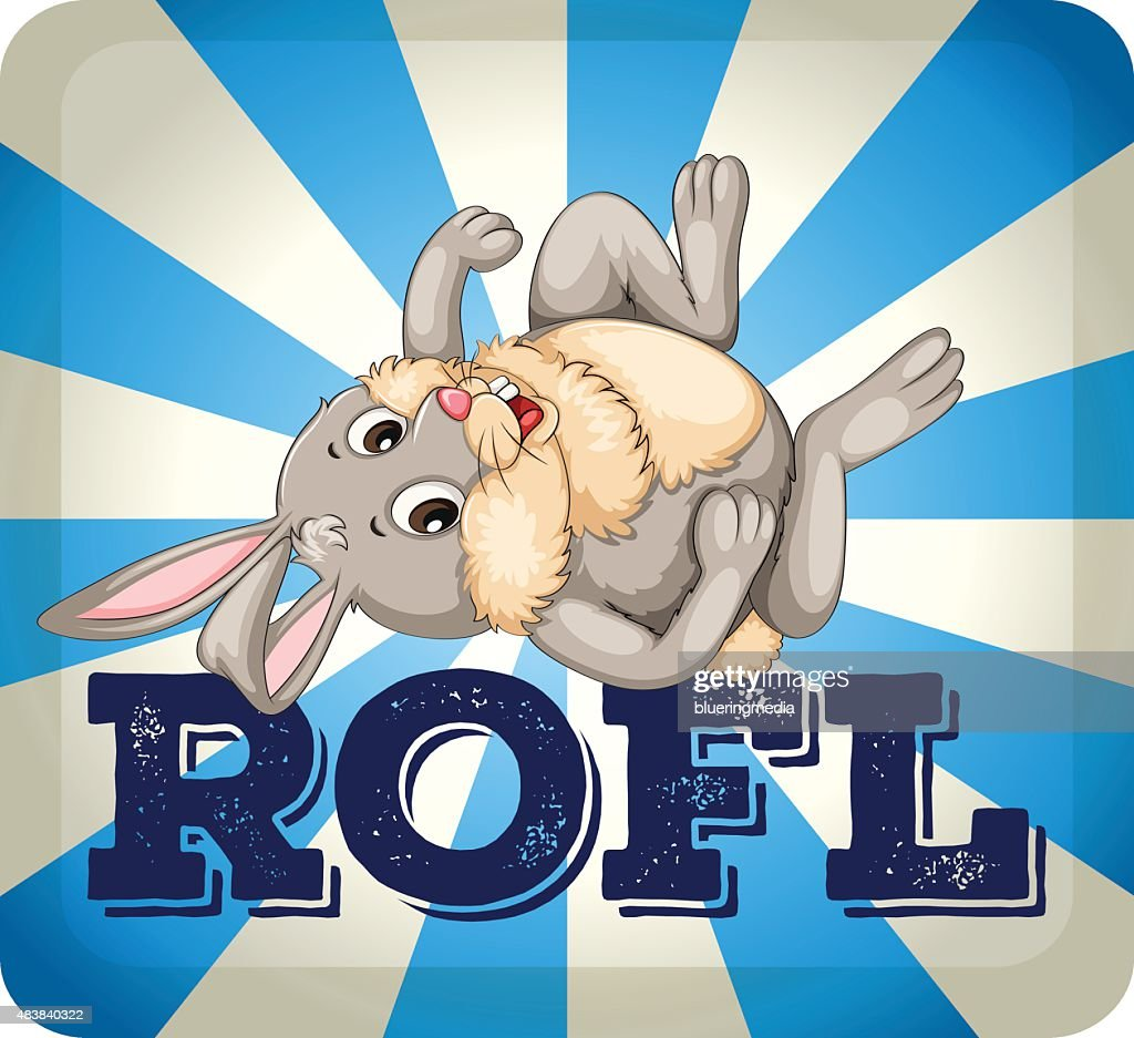 ROFL expression with rabbit