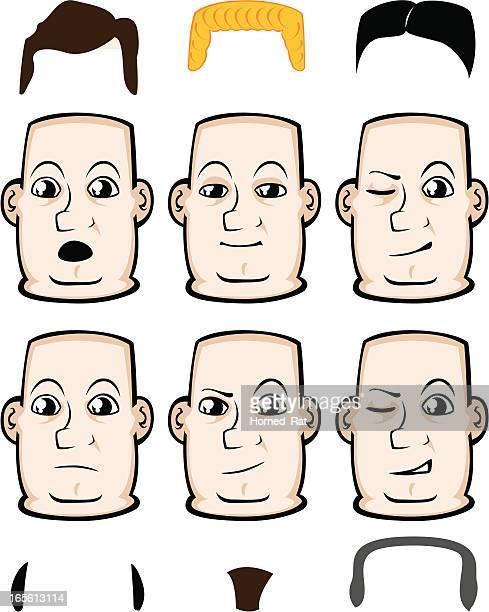 expressions - arrogance - balding stock illustrations, clip art, cartoons, & icons