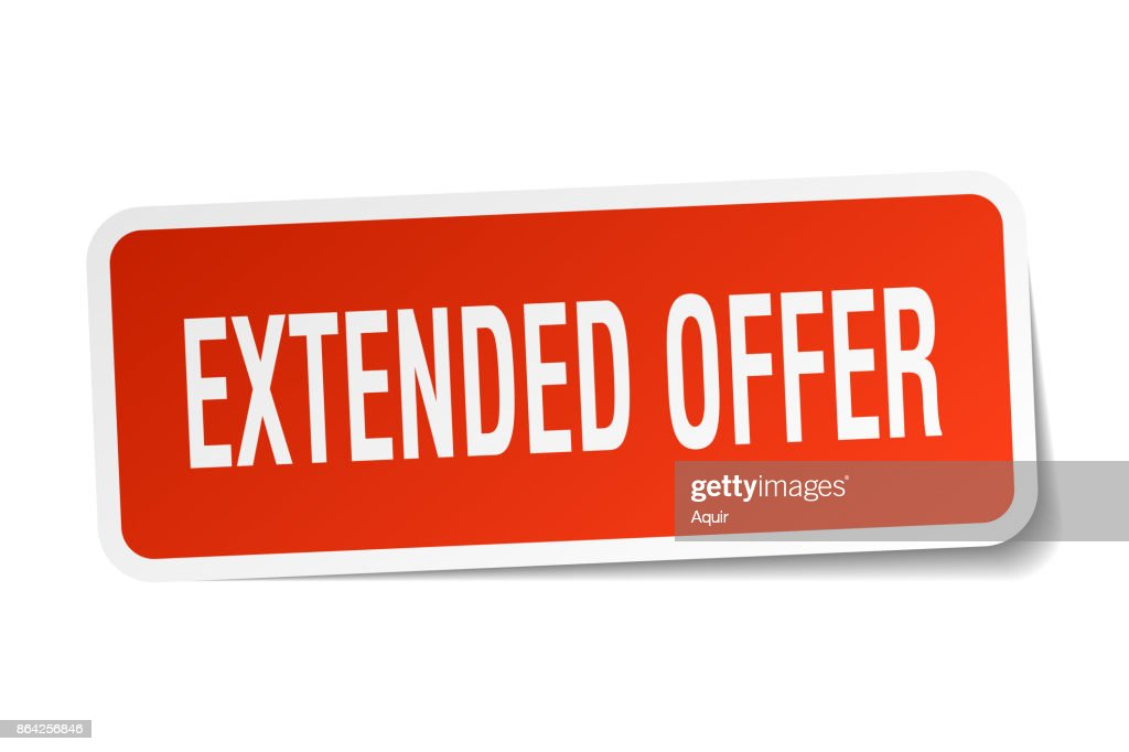 extended offer square sticker on white