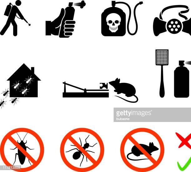 exterminator royalty free vector icon set