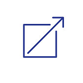 External Link Icon with arrow and box pointing