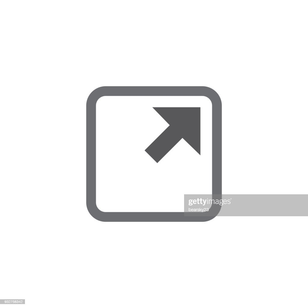 External Link Icon with Arrow and Square to show leaving a site