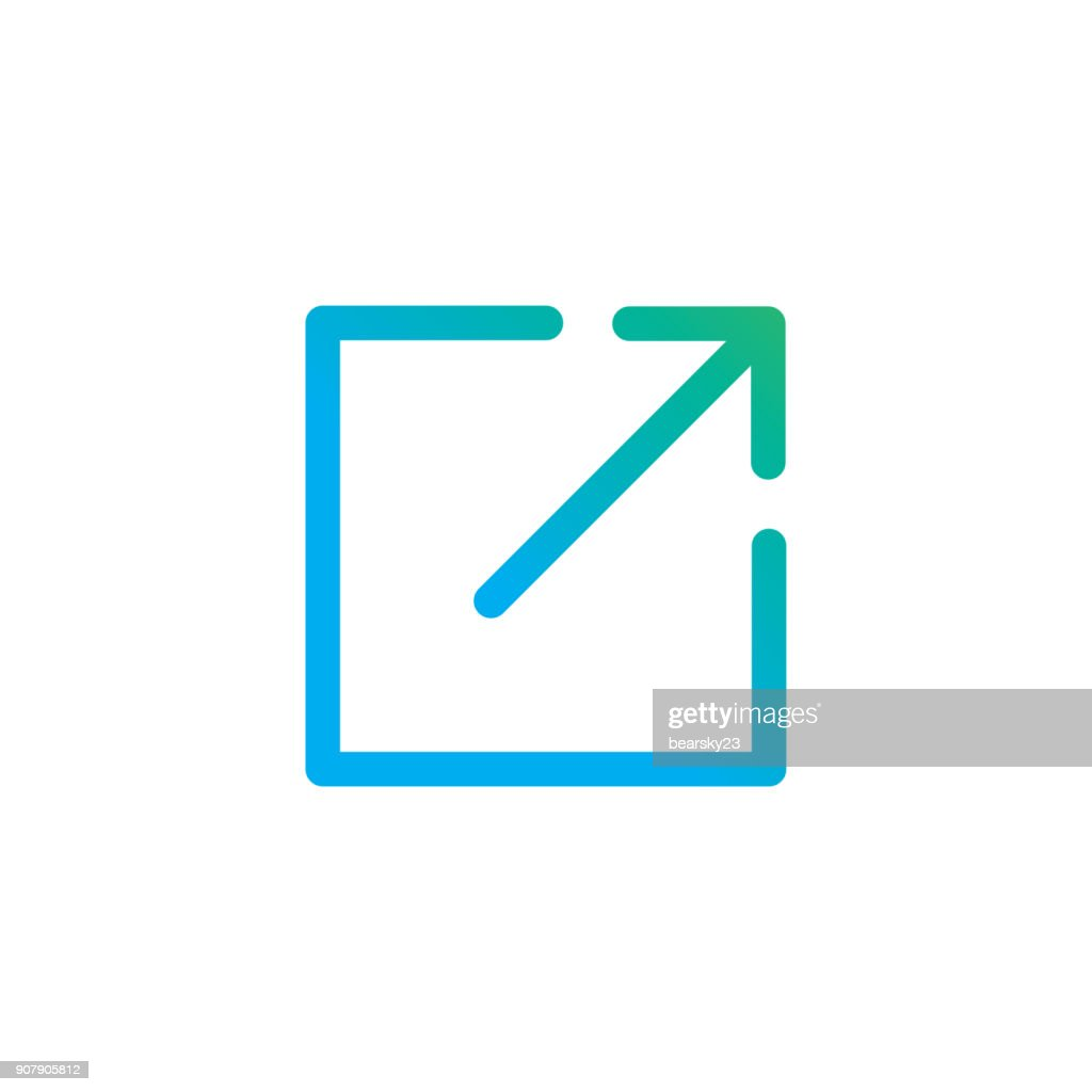 External Link Icon with Arrow & Box for leaving site