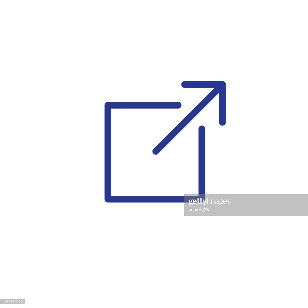 External Website Link Icon for UI or UX app or website
