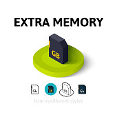 Extra memory icon in different style