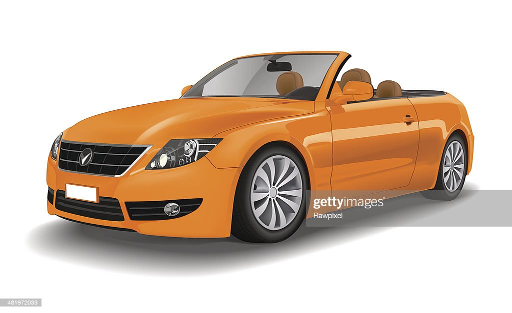 Extreemely detailed Sports Car Convertible Vector.